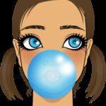 child, girl, bubblegum